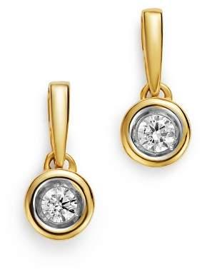 Bloomingdale's Diamond Bezel Set Drop Earrings in 14K Yellow Gold, 0.20 ct. t.w. - 100% Exclusive