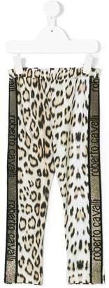 Roberto Cavalli Junior leopard print leggings
