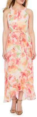 R & K Originals Sleeveless Floral Maxi Dress-Petites