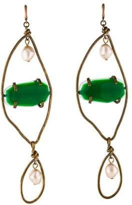Marni Resin & Faux Pearl Statement Earrings