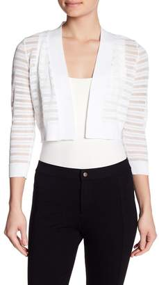 Calvin Klein Shadow Stripe 3/4 Sleeve Shrug