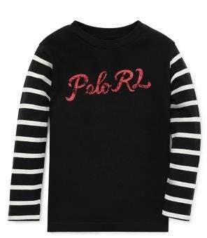 Ralph Lauren Little Boy's Stripe-Sleeve Cotton Jersey Tee