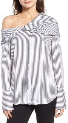 Trouve Stripe One-Shoulder Top