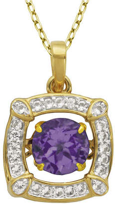 FINE JEWELRY Love in Motion Genuine Amethyst and Lab-Created White Sapphire Pendant Necklace