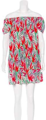 Kenzo Floral Print Silk Mini Dress