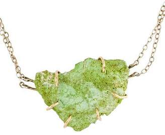 Melissa Joy Manning Two-Tone Variscite Pendant Necklace
