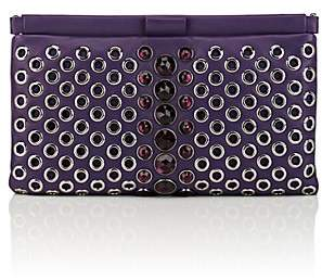 Miu Miu WOMEN'S POCHETTE EMBELLISHED LEATHER CLUTCH