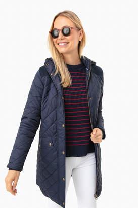 Barbour Navy Burne Quilt Jacket