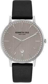 Kenneth Cole Stainless Steel Leather Strap Watch