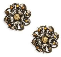 Miriam Haskell Filigree Stud Earrings