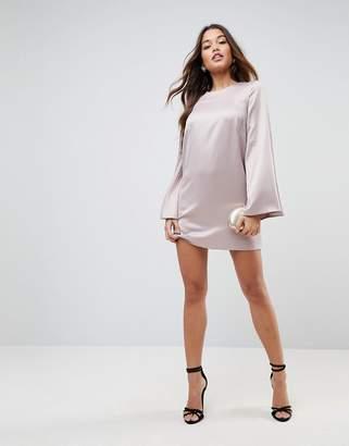 Asos Design Extreme Sleeve Satin Mini Dress