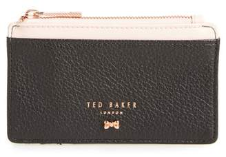 Ted Baker Alica Top Zip Leather Card Case