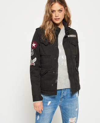 Superdry Winter Rookie Military Patch Jacket