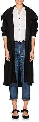 Pas De Calais Women's Linen Long Hooded Jacket