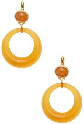 Kenneth Jay Lane Women's Gold-Plated Glass Hoop Drop Earrings