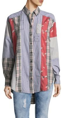Free People Hi-Lo Button-Down Shirt