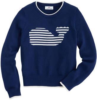 Vineyard Vines Girls Stripe Whale Instarsia Sweater