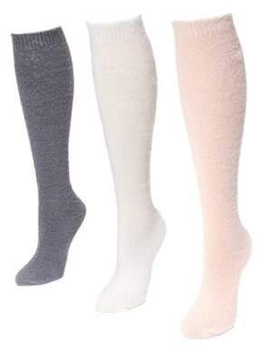 "Muk Luks Women's Fuzzy Yarn Knee High Socks 7.5"" x 3.5"""