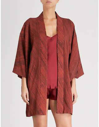 Kisshoten Hidden Flowers silk kimono robe