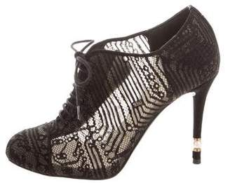 Chanel Lace Cap-Toe Booties