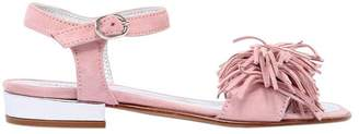 Simonetta Fringed Suede Sandals