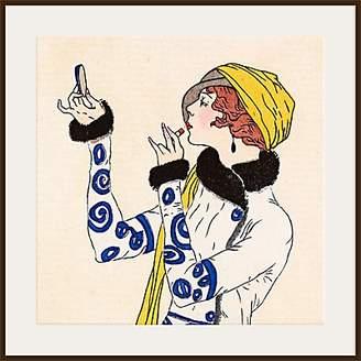 John Lewis & Partners The Courtauld Gallery, Gazette du Bon Ton - Journal des Dames et des Modes - No.52, 1913 Costumes Parisiens (Detail) Print