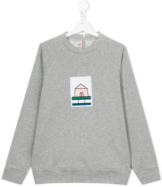 Marni house embroidered patch sweatshirt