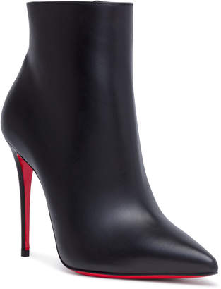 Christian Louboutin So Kate 100 Black Leather Booties