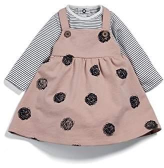 Mamas and Papas Baby Girls' 2 Piece Tee & Spot Pinafore Clothing Set,(Size: New Born)