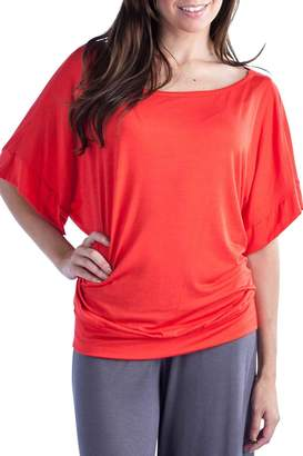 24/7 Comfort Apparel Banded Dolman Top