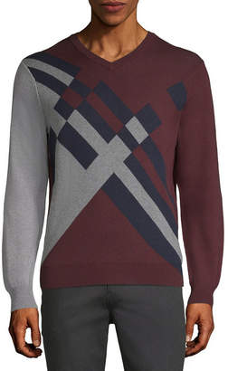 AXIST Axist Long Sleeve Color Block Sweater