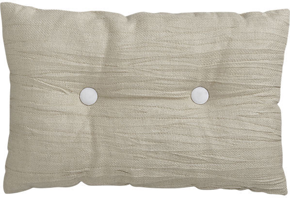 "CB2 Double Button-Up White 18""X12"" Pillow"