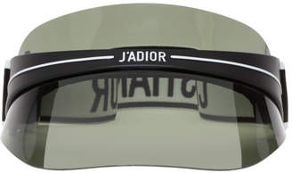 Christian Dior Black and Green DiorClub1 Visor