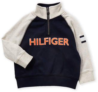 Tommy Hilfiger Infant Boys) Quarter-Zip Mock Neck Sweatshirt