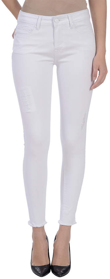 White Distressed Orchid Mid-Rise Ankle Jeans - Women & Plus