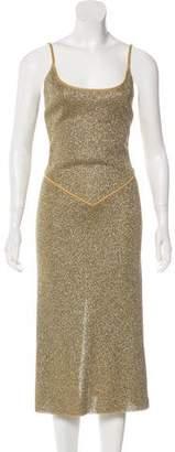 Richard Tyler Metallic Midi Dress