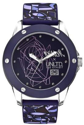 Ecko Unlimited Unisex Quartz Watch with Purple Dial Analogue Display and Purple Silicone Strap E09530G4