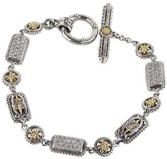 Konstantino Women's Asteri White Diamond, Crystal and Sterling Silver Bracelet