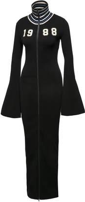 FENTY Women's Zip-up Sweater Maxi Dress
