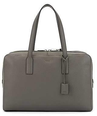HUGO BOSS Holdall in grainy Italian leather with key lock