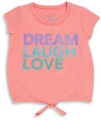 Chaser Little Girl's Graphic Tie-Front Tee