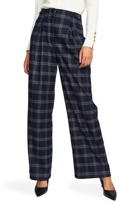 Court & Rowe Soft Plaid Wide Leg Pants