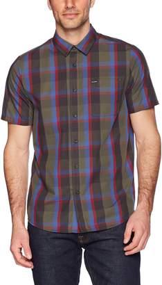 Volcom Men's Woodson Short Sleeve Button Up Shirt
