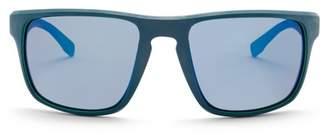 BOSS Polarized 58mm Wrap Sunglasses
