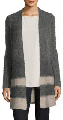 Eileen Fisher Long-Sleeve Striped Cardigan
