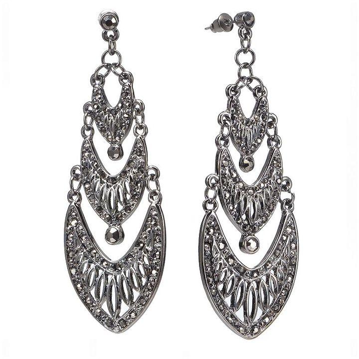 JLO by Jennifer Lopez simulated crystal chandelier earrings
