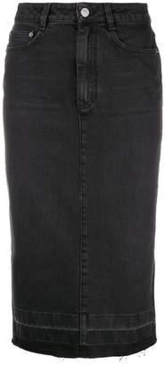 Givenchy raw hem denim pencil skirt