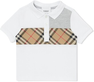 Burberry signature print polo shirt