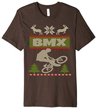 BMX Bikes Ugly Christmas Sweater T Shirt Xmas Knitted Tee