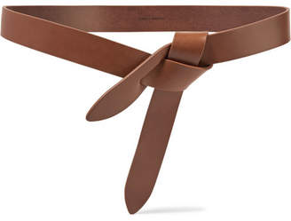 Isabel Marant - Lecce Leather Belt - Chocolate $120 thestylecure.com